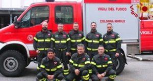 Emergenza sisma: ad Ascoli Piceno nove vigili del fuoco messinesi
