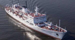 """La nave di ricerca oceanografica della Marina russa """"Admiral Vladimirskiy"""" attracca al porto di Messina"""
