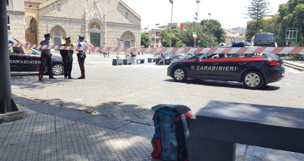 Messina, zaino sospetto a Piazza Duomo: intervento dei carabinieri