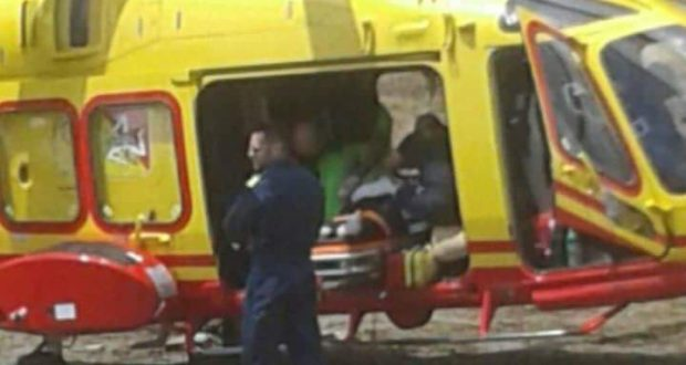 Santa Margherita, grave incidente auto moto, 40enne in prognosi riservata