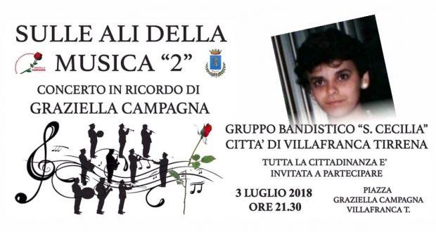 """Villafranca Tirrena: Sulle ali della musica """"2"""", concerto in ricordo di Graziella Campagna"""