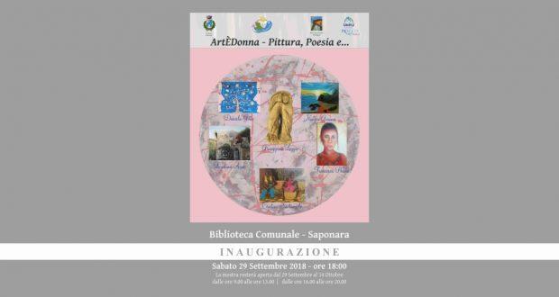 "Saponara: oggi, inaugurazione ""ArtÈDonna, Pittura, Poesia e…"""