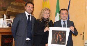 Messina, la fotografa Pandolfino in visita al sindaco De Luca