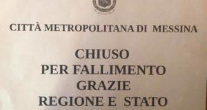 """Messina: Città Metropolitana """"chiusa per fallimento"""""""