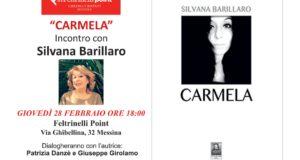 """Il secondo libro di Silvana Barillaro: """"Carmela"""" sarà presentato alla Feltrinelli"""