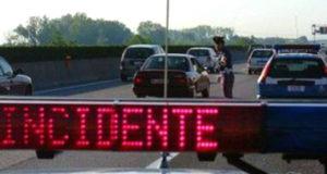 Incidente sulla A18: un ferito e lunghe code