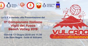 Tutto pronto a Vulcano per il Campionato italiano Beach Volley VVF