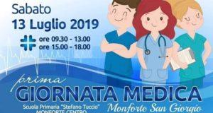 """Monforte San Giorgio: sabato la """"Prima Giornata Medica"""""""