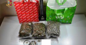 Servizi antidroga: sequestrata marijuana. La Squadra Mobile già sulle tracce del pusher