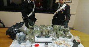 San Giovannello: nasconde in casa ed in cantina oltre 16 kg di marijuana, arrestato dai carabinieri