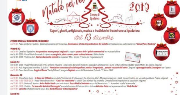 Natale per voi a Spadafora: ecco il programma
