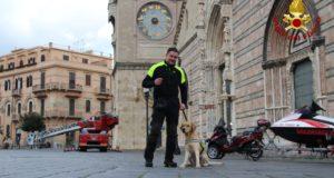 Direzione Regionale Sicilia, attività addestrativa anche per Grisù, il Labrador dei Vigili del Fuoco di Messina