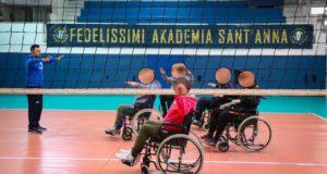 Partito il volley in carrozzina, un altro progetto sociale dell'Akademia Sant'Anna.