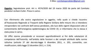 Rimborso abbonamenti e biglietti ferroviari, l'Autorità di Regolazione dei Trasporti risponde al Comitato Pendolari Siciliani