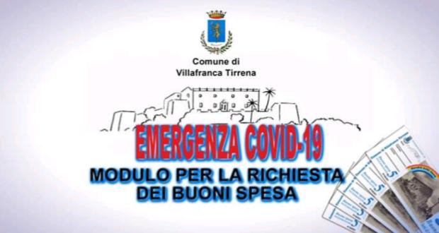 Corona virus, buoni spesa a Villafranca Tirrena: come scaricare il modulo?