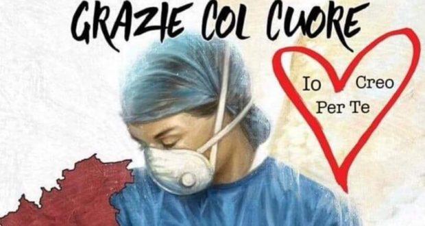 """Medici e infermieri, eroi in prima linea: """"Grazie col Cuore"""""""