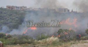 Vasto incendio a Spadafora
