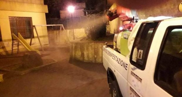 Villafranca Tirrena: sanificazione e disinfestazione rinviate per maltempo