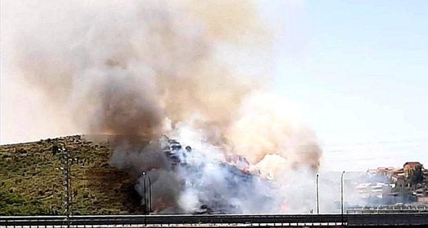 Incendio a Camaro San Paolo di Messina