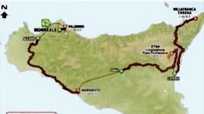 """Il Giro d'Italia """"riparte"""" dalla Sicilia"""