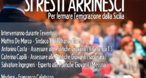 """""""Si resti arrinesci"""": il movimento contro l'emigrazione siciliana presenta il suo libro a Villafranca Tirrena"""
