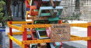 Spunta una scultura al Centro città: un dono per Messina