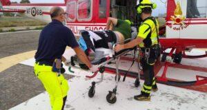 Motociclista cade a Monforte San Giorgio: soccorso da elicottero dei Vigili del Fuoco