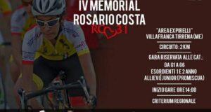"""Villafranca Tirrena: domenica """"IV Memorial Rosario Costa"""""""