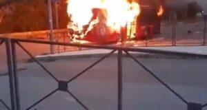 "Giampilieri Superiore in fiamme lo ""Shuttle""  (Video)"