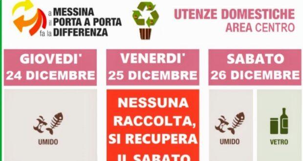 Messina, rifiuti: il calendario delle festività