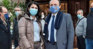 Blitz di Cateno De Luca con la sindaca di Spadafora Tania Venuto