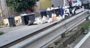 Sommossa popolare sul viale Giostra per la mancata raccolta rifiuti, intervengono le forze dell'ordine. (Foto)