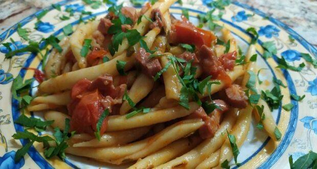 """A tavola con gusto: """"maccheroni con pomodorini e pancetta affumicata"""""""