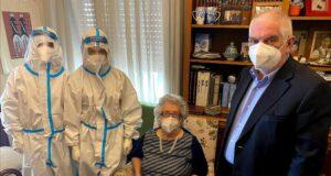 Messina, primo vaccino anti-Covid a domicilio