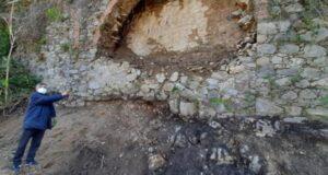 Ponte Corsari, Biancuzzo: iniziati i lavori di rifacimento del muro crollato