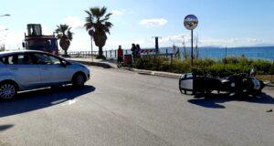 Incidente auto moto [FOTO]