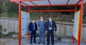 Pensilina Ponte Gallo: chiesta nel 2019 e installata ieri, Biancuzzo soddisfatto