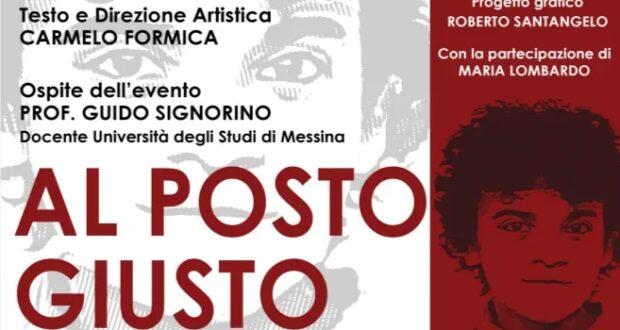 """""""Al Posto Giusto"""", monologo teatrale in memoria di Graziella Campagna"""