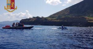Salina: gommone con sette persone a bordo salvato dagli acquascooter della polizia