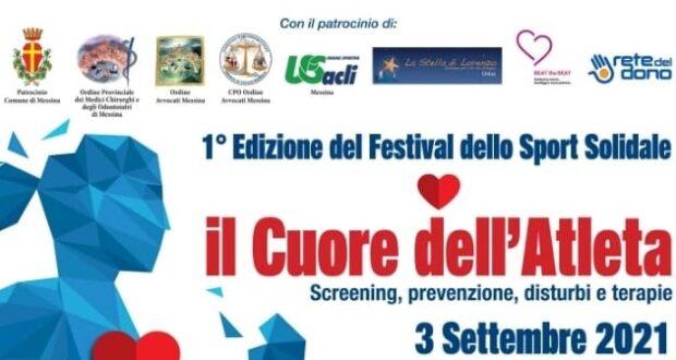 """Domani al via la 1° edizione del Festival dello Sport Solidale """"Il Cuore dell'Atleta"""": il programma dell'evento"""
