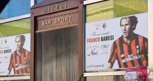 """Il mitico Franco Baresi """"ospite d'onore"""" al Bar Sport Miceli"""