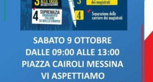 Fratelli d'Italia aggiunge quiz referendari, raccolta firme a Piazza Cairoli